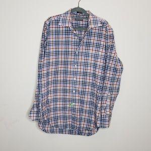 Peter Millar Plaid Button Front Shirt Collared M